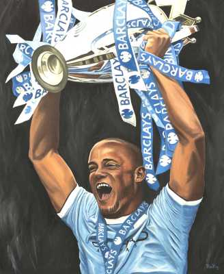 Vincent Kompany Rudy Vandecappelle rmvportraitsart oil painting for sale